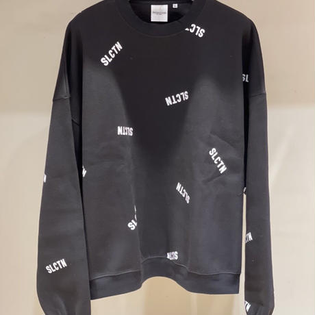 Selection of life. SLCTN Patterned Crew Sweat BLACK