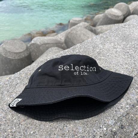 Selection of life. Brand LOGO Bucket Hat BLACK