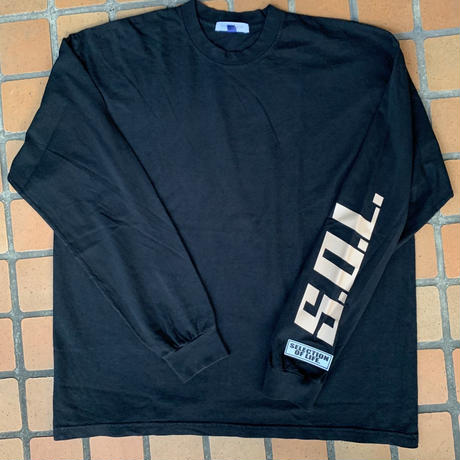 Selection of life. × LOS ANGELES APPAREL L/S Tee Black