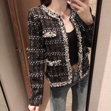 ブラックツイードジャケット
