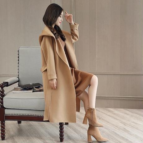 フード付き スタイルウールコート 2色展開