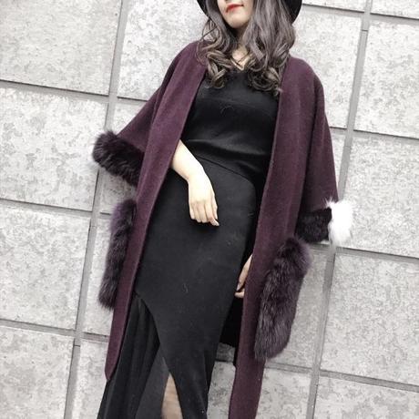 【Black S.Mサイズ即納】フォックスファーポケットウールコート 5色展開
