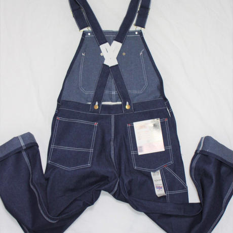 Round House Made in USA Low Back Blue Denim Bib Overalls