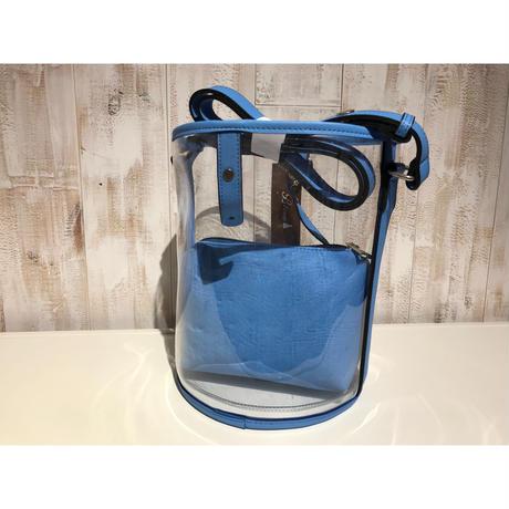 blue ポーチ付きクリアバッグ