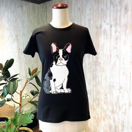 新作 Rinascimento フレンチブルドッグTシャツ