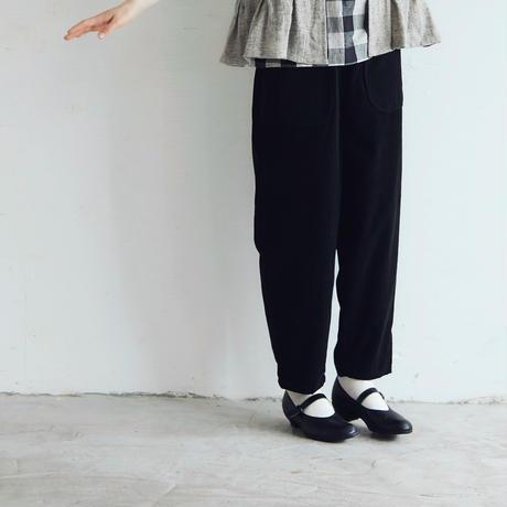 コットン・マイクロコーデュロイ・パンツ/ブラック