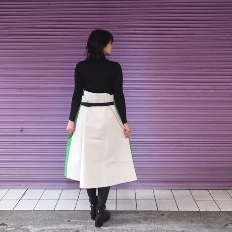 QFD THE HOUSE BOOK エプロンドレス/green