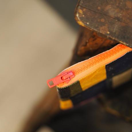 poRiff ポーチ/オレンジ(zipper)