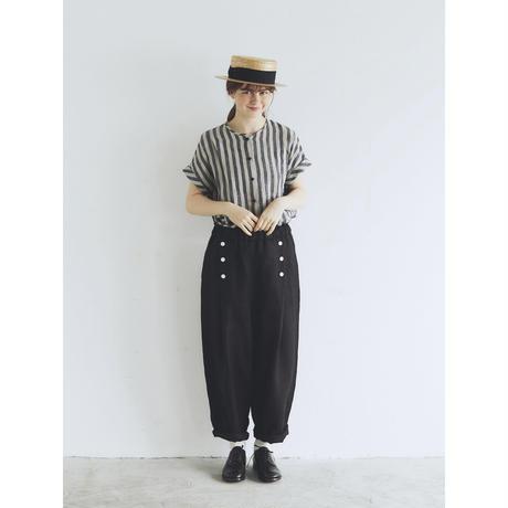 ツイルリネン・マリンパンツ/ブラック