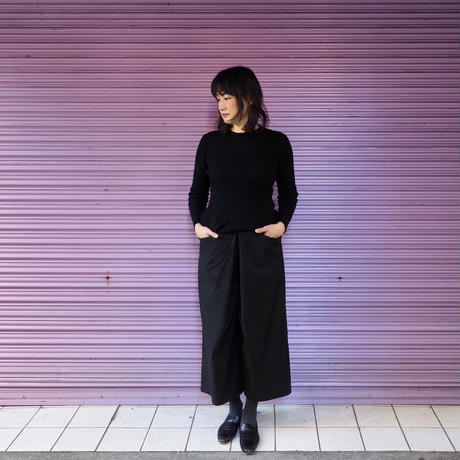 Jikonka 前タックパンツ/ブラック