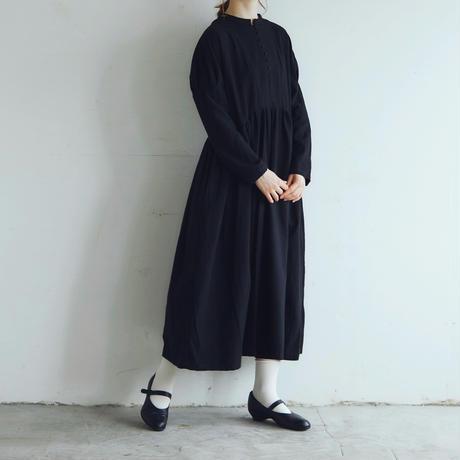 東炊きコットンビエラ・クラシック・ワンピース/ブラック