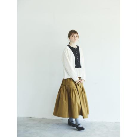 ブラッシュド・ベルギーリネン・カーディガン/ホワイト