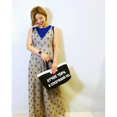 【Eimee Law(エイミーロウ)】ドット柄リラックスキャミサロペット