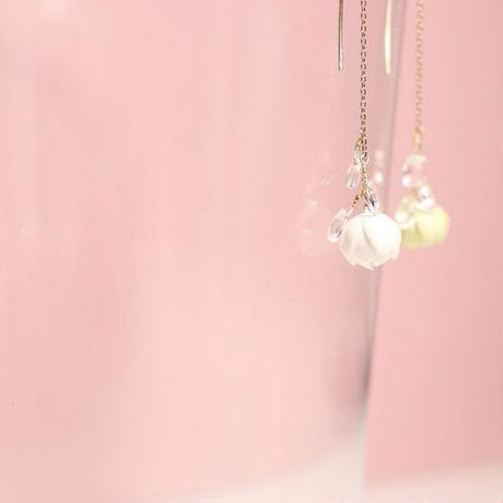 Tsubomi  Drop Earringsピアス/Ear clipsイヤリング