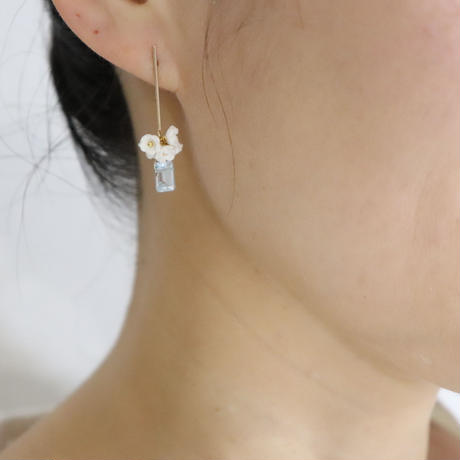 Nano Bar Earrings-aqua