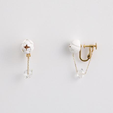 Tsubomi  Ear clips   - クォーツ 1 - イヤリング