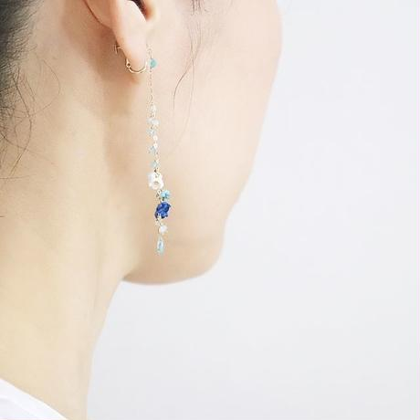 Aqua Drop Earrings/Ear clip