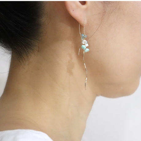 Nano Aqua  Earringsピアス