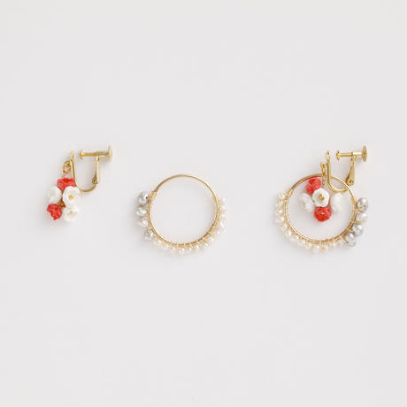 Nano Ring Earringsピアス / Ear clipsイヤリング