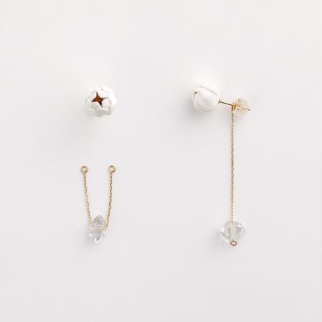 Tsubomi  Earrings   - クォーツ 1 - ピアス