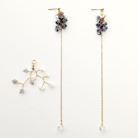 Toki  Earrings - LONG- / eda-S1