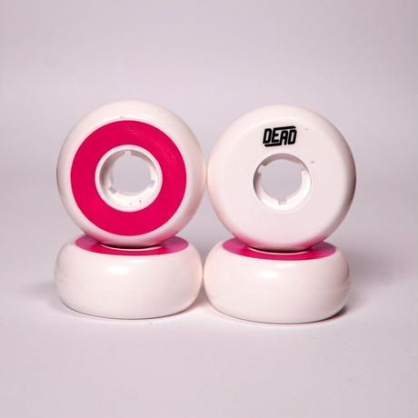 DEAD Wheels TeamWhite  Fuchsia RING 58mm92a 4個セット