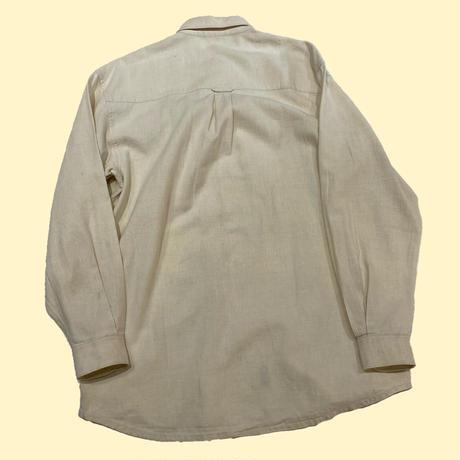 vintage euro design  linen shirt 刺繍