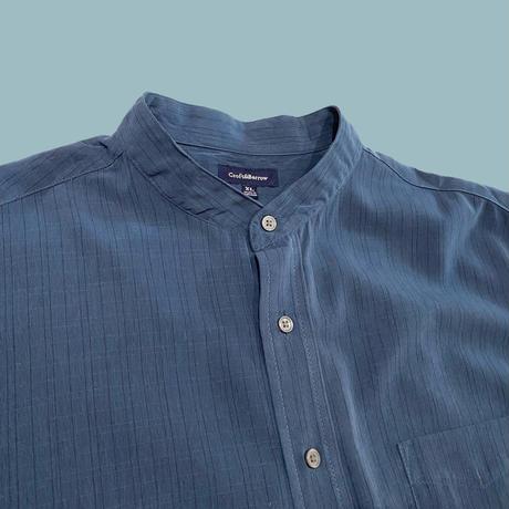 vintage euro fake suède check round neck shirt