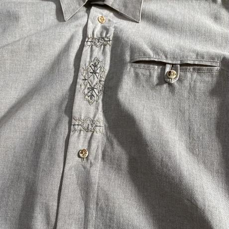 vintage euro linen Tyrol shirt 刺繍