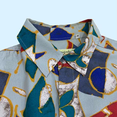 vintage euro trump rayon print shirt