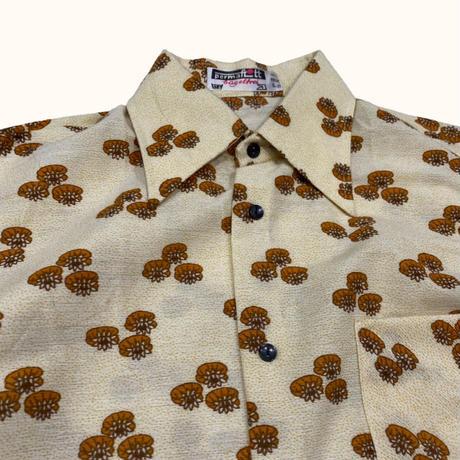 vintage euro 70s antique print shirt
