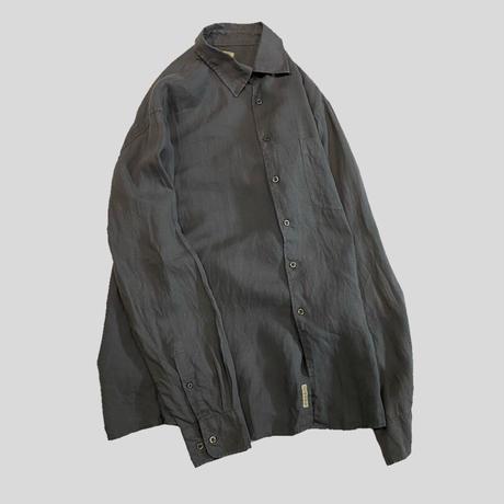vintage euro plain linen shirt