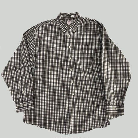old 00s Brooks Brothers check over size shirt