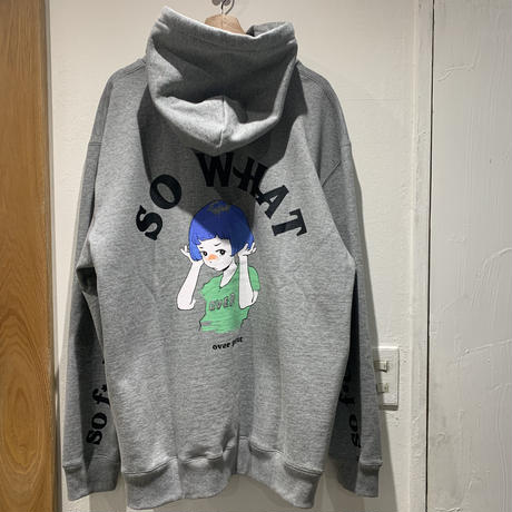 over print/SO WHAT Hoodie