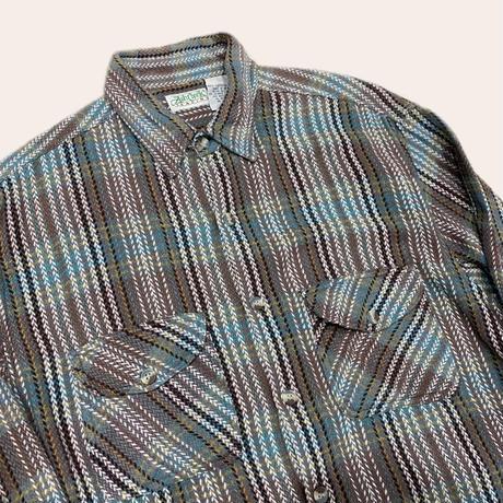 vintage euro box flannel shirt