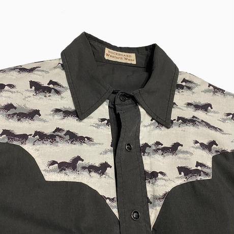 vintage euro 70s western shirt