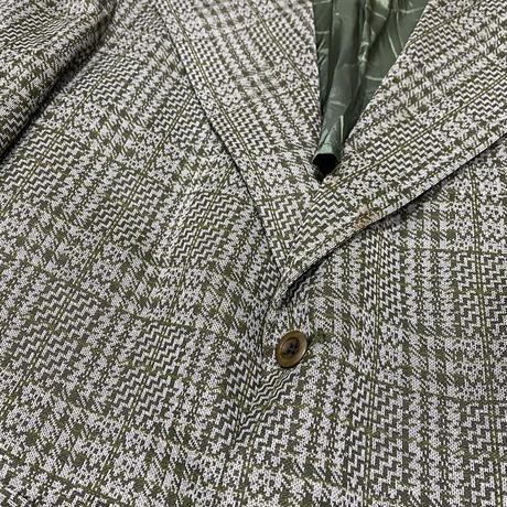 vintage us 80s check  poly jacket #B