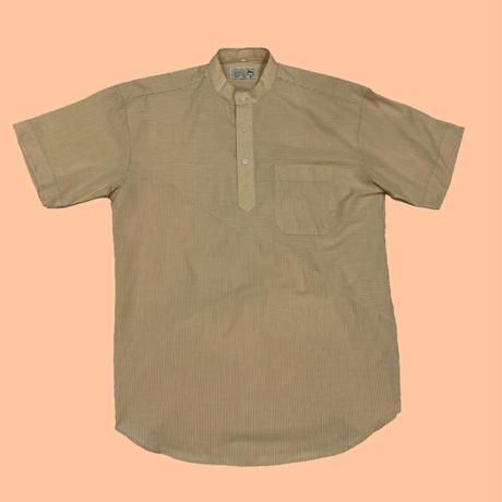 vintage euro pullover band collar shirt