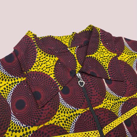 vintage African batik shirt