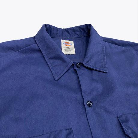 old Dickies navy work shirt