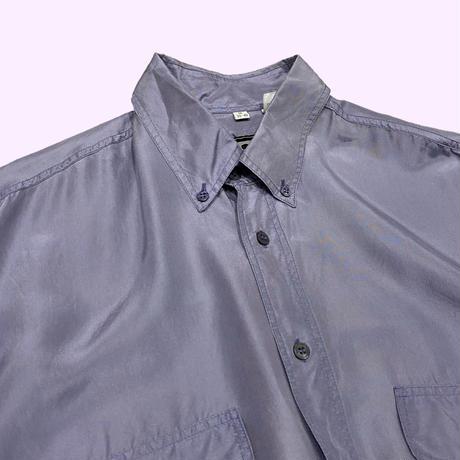 vintage euro button down silk shirt
