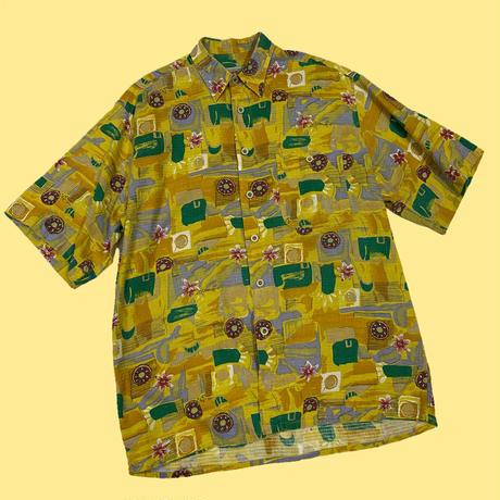 vintage euro summer print shirt