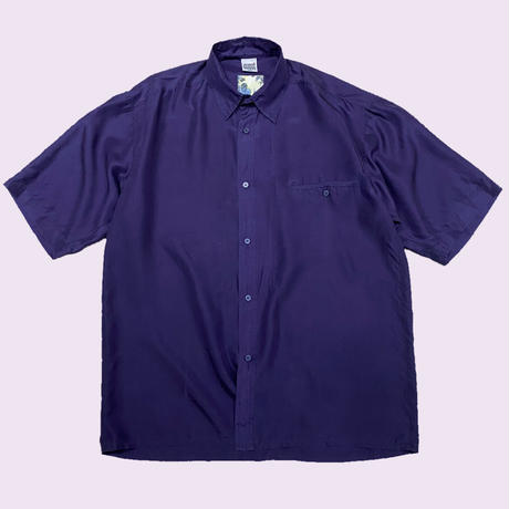 vintage euro box silk shirt