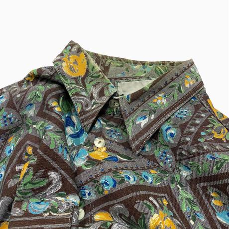 vintage euro flower print shirt