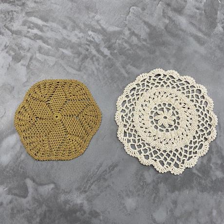 vintage euro small mesh coaster