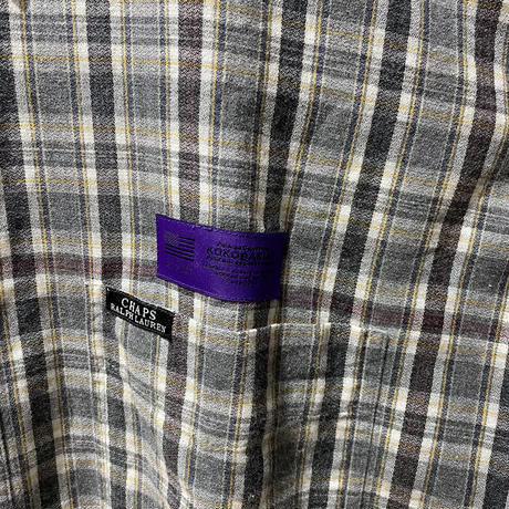 over print used remake check shirt