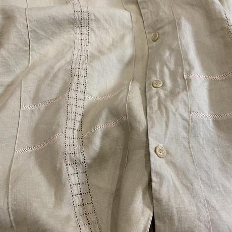 vintage euro box linen shirt