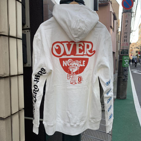 """over print""""OVER NOODLE Hoodie"""""""