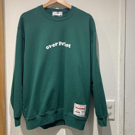 over print/Lotus crewneck pullover