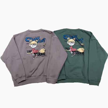 OVER COMICS crewneck pullover